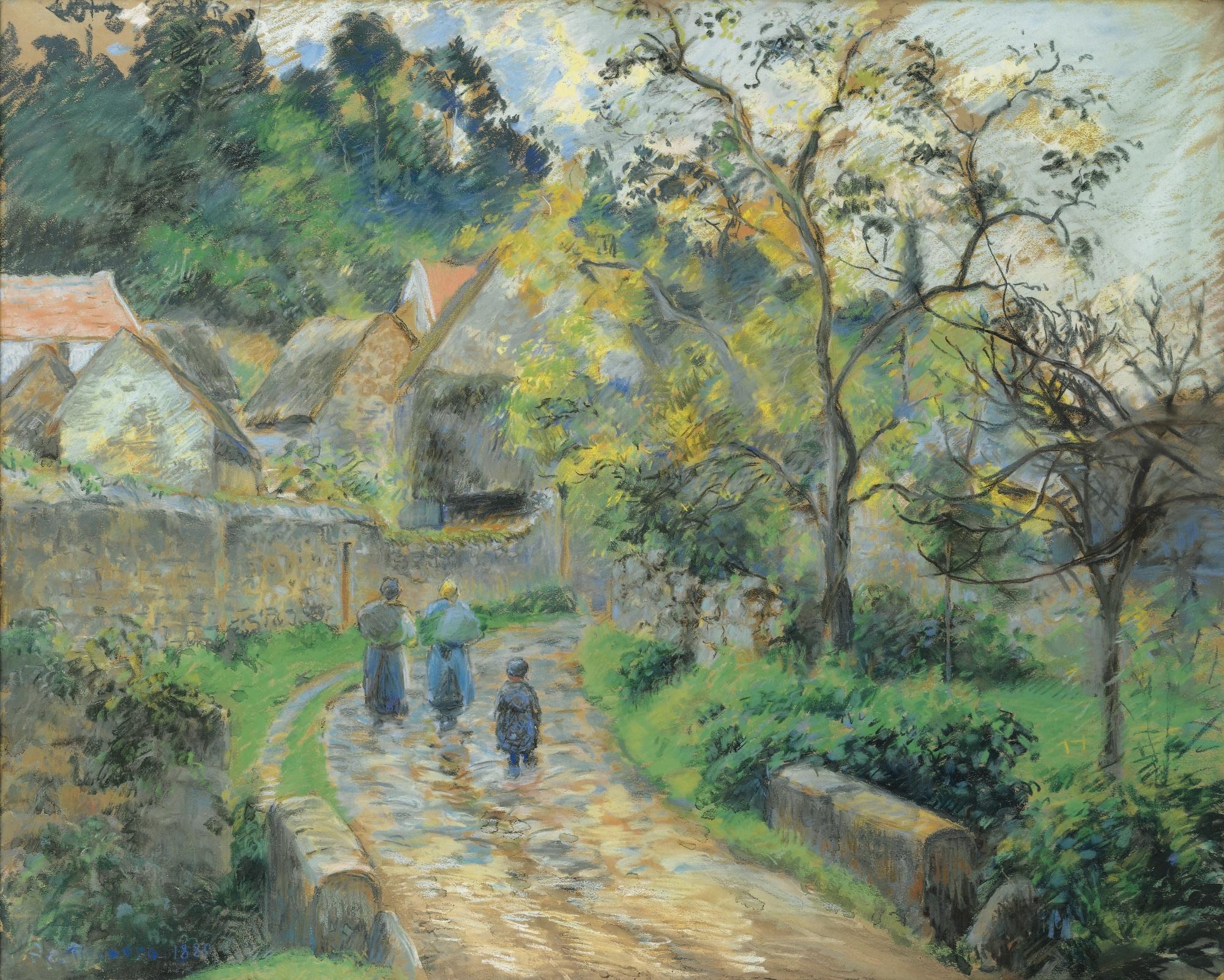 Camille Pissarro-Rue De Village A Auvers-1880