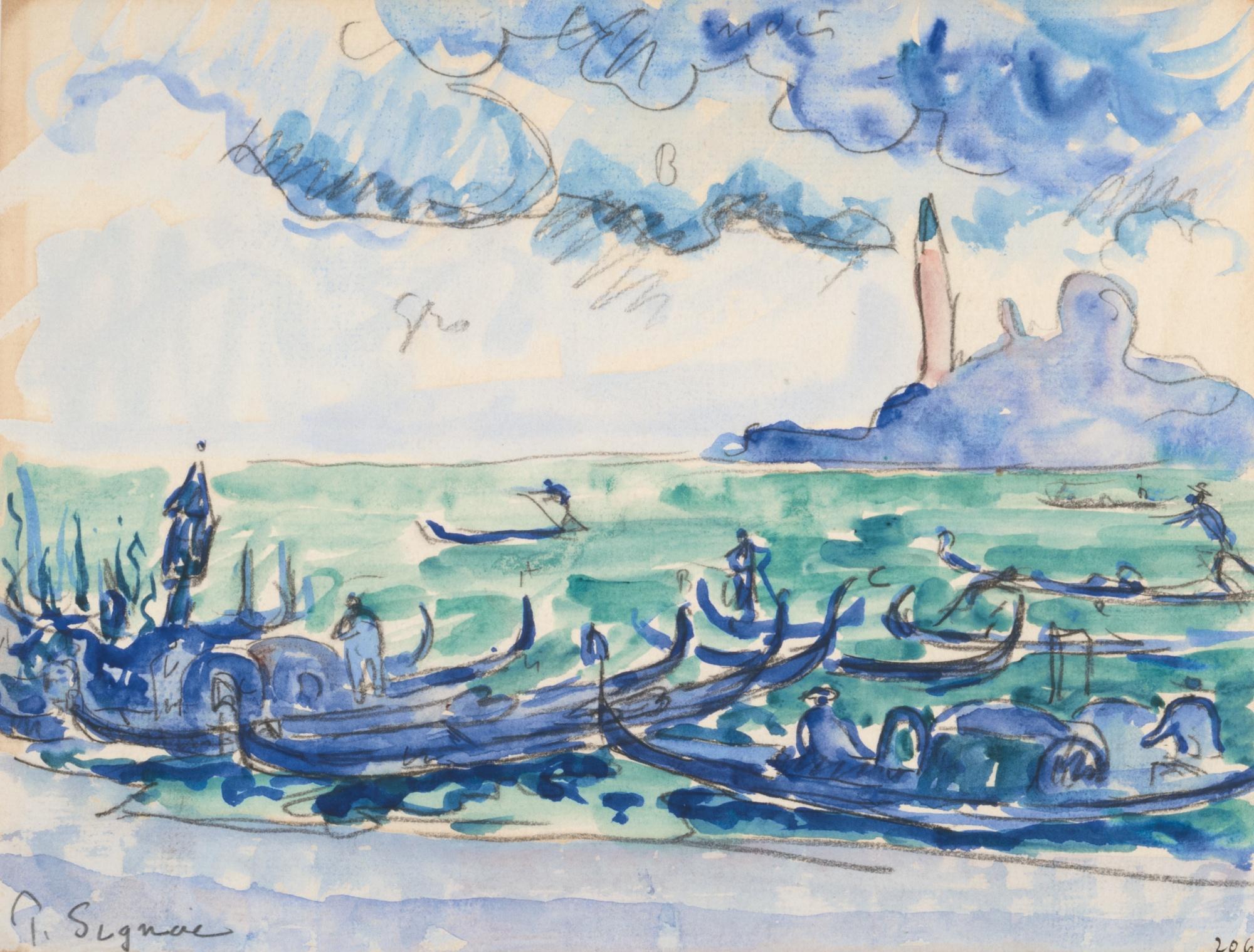 Paul Signac-Venise, San Giorgio Vu De La Riva Dei Schiavoni-1904