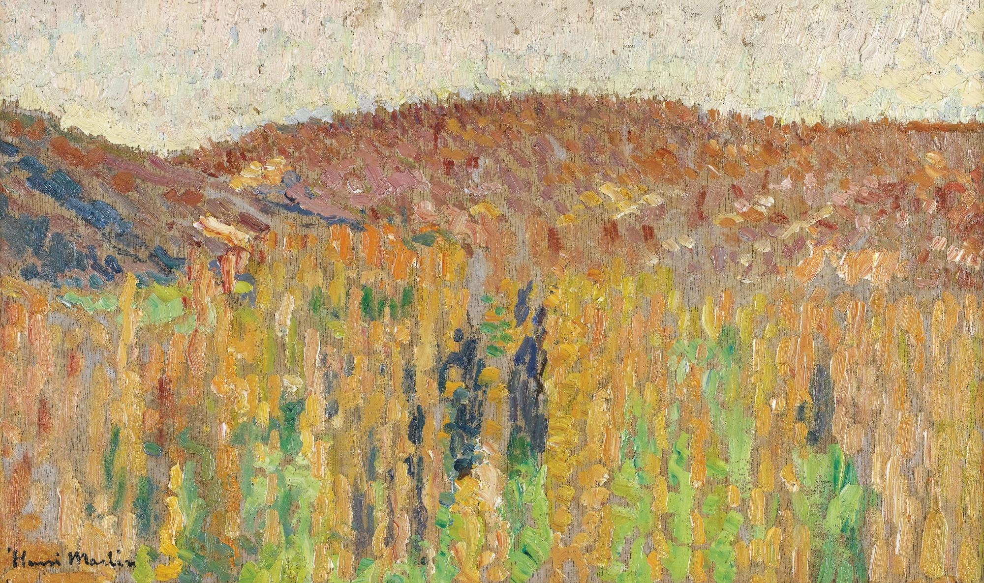 Henri Martin-Paysage Du Lot - Recto Etude De Pieds Laces - Verso-