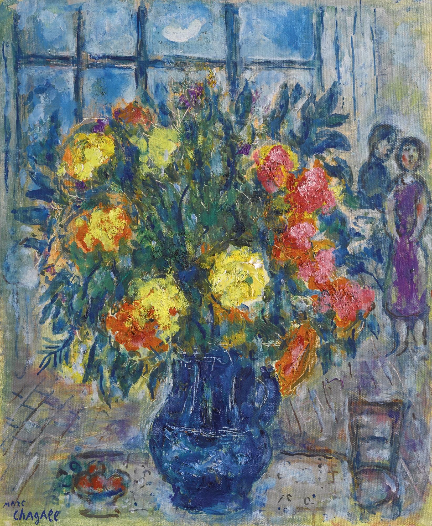 Marc Chagall-Vase Bleu Dans L'Atelier-1973