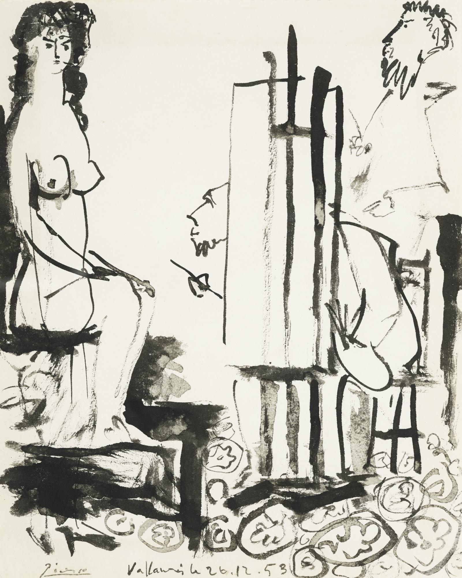 Pablo Picasso-Dans L'Atelier-1953