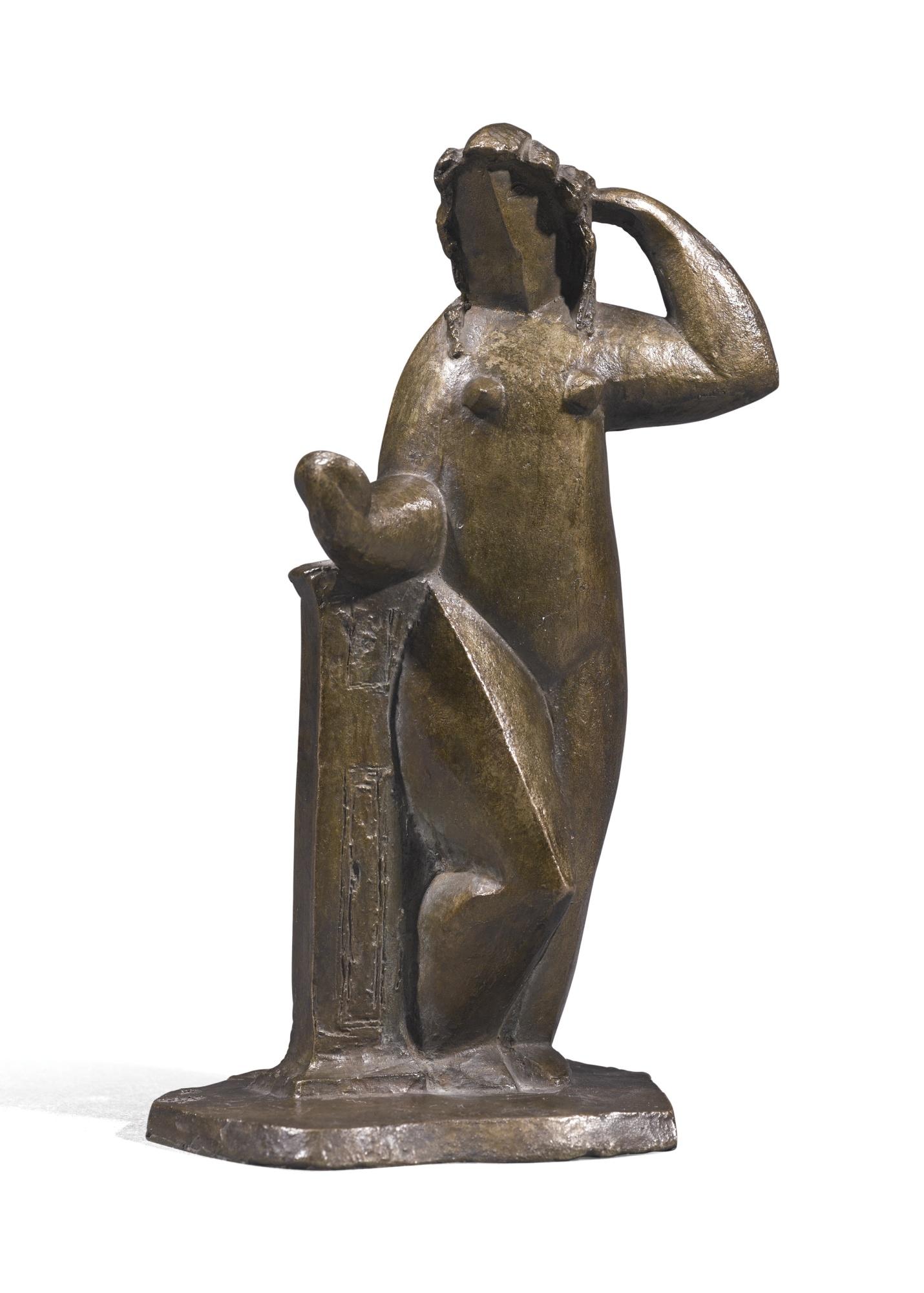 Henri Laurens-Femme A La Draperie Debout, Au Miroir-1929