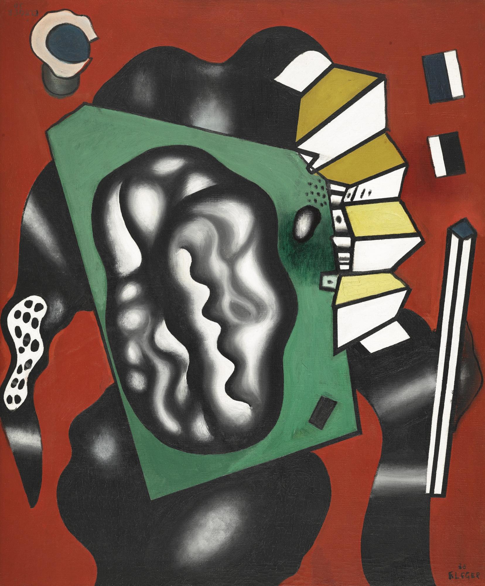 Fernand Leger-Composition Sur Fond Rouge-1929