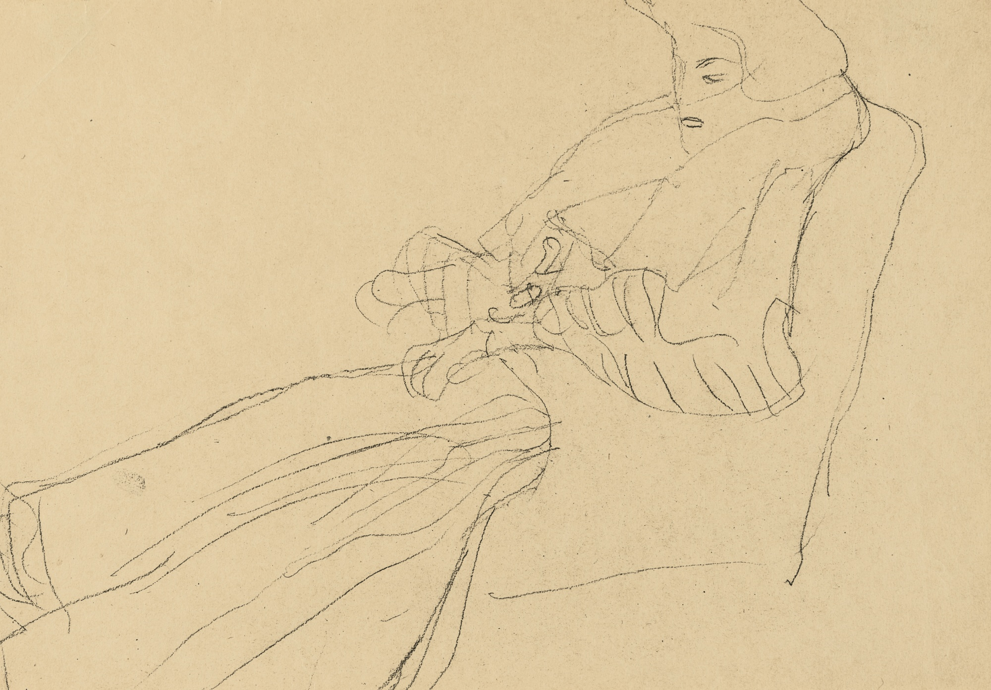 Gustav Klimt-Sitzende Dame Im Stuhl (Lady Sitting In A Chair)-1903