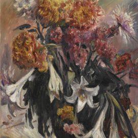 Lovis Corinth-Chrysanthemen Und Lilien (Chrysanthemums And Lilies)-1914