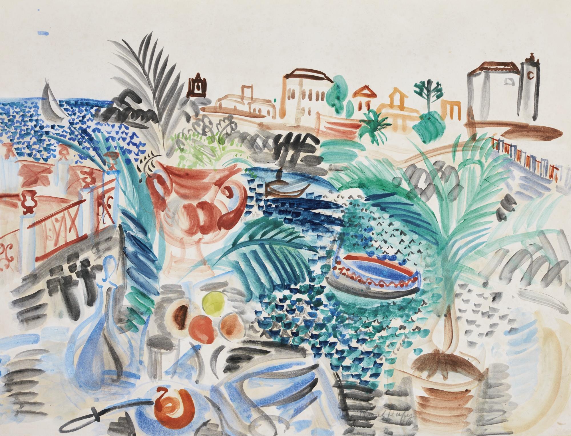 Raoul Dufy-Terrasse Sur Un Port Sicilien-1922