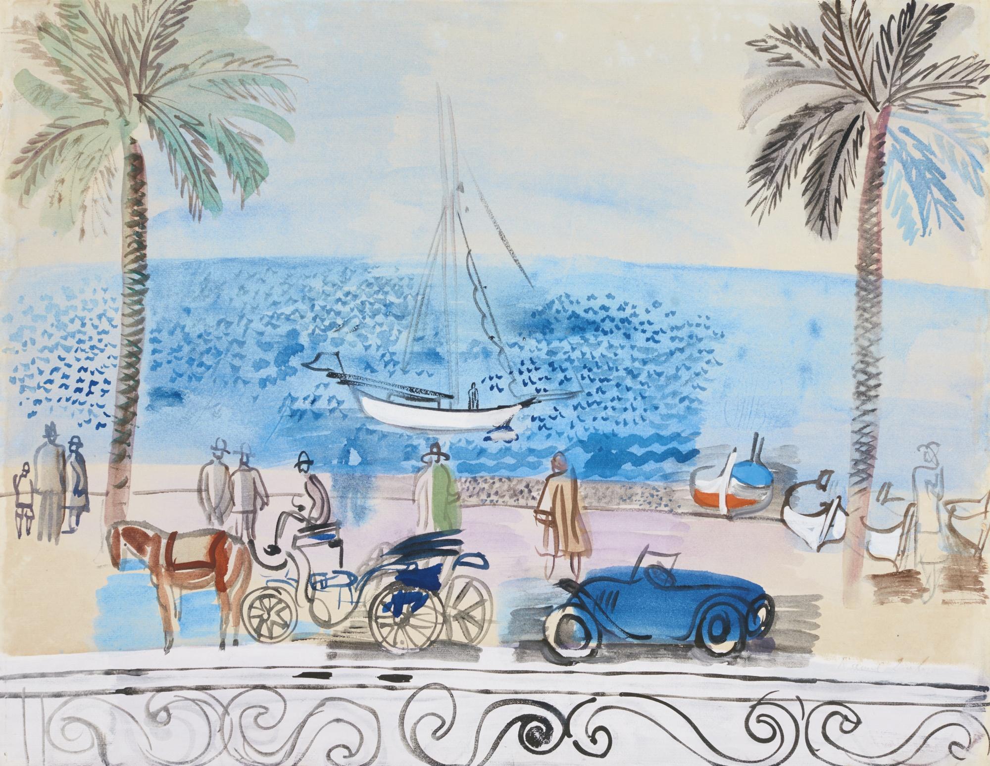 Raoul Dufy-Cannes, La Croisette-1925
