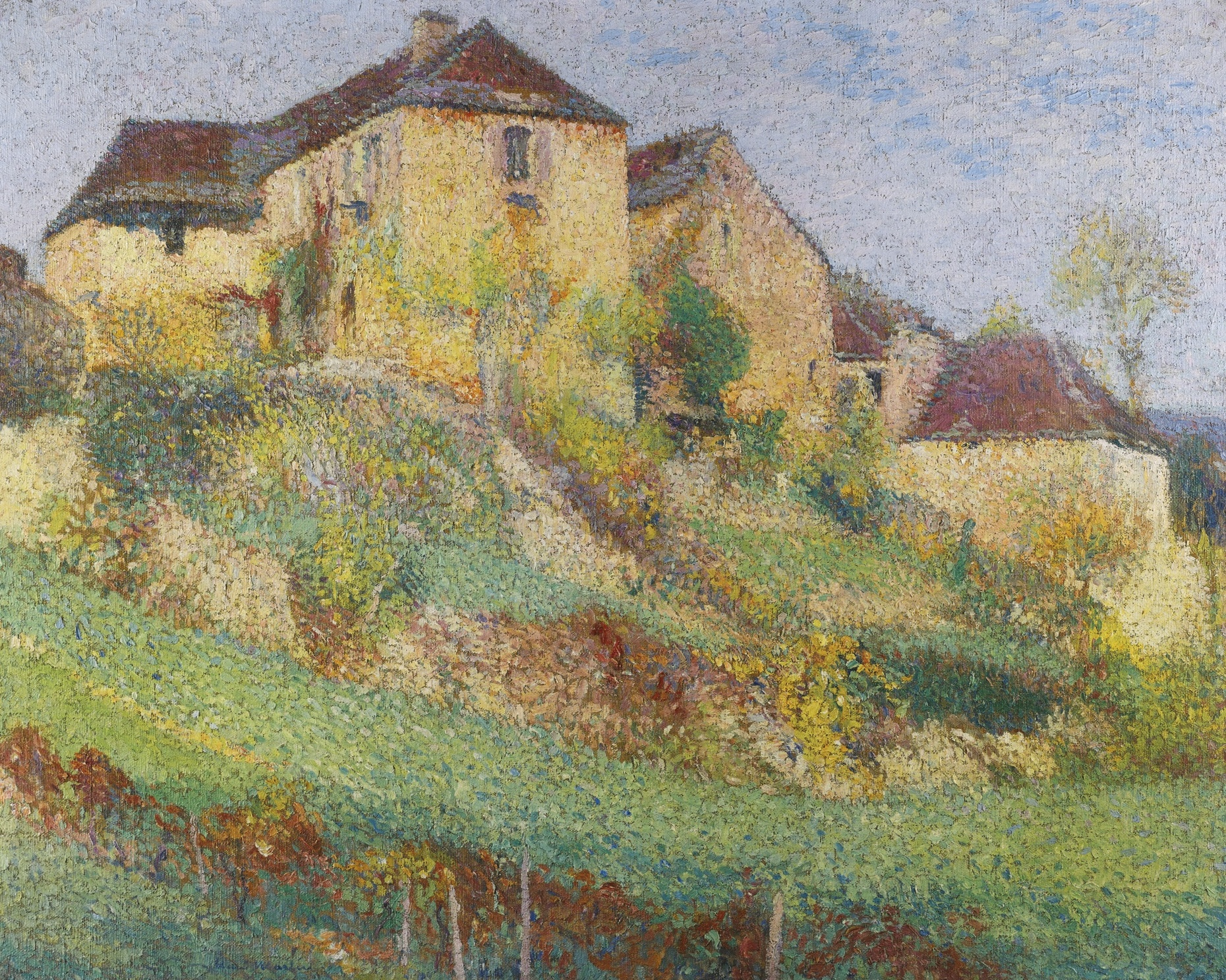 Henri Martin-La Grande Maison De La Combe A Labastide-Du-Vert En Ete-