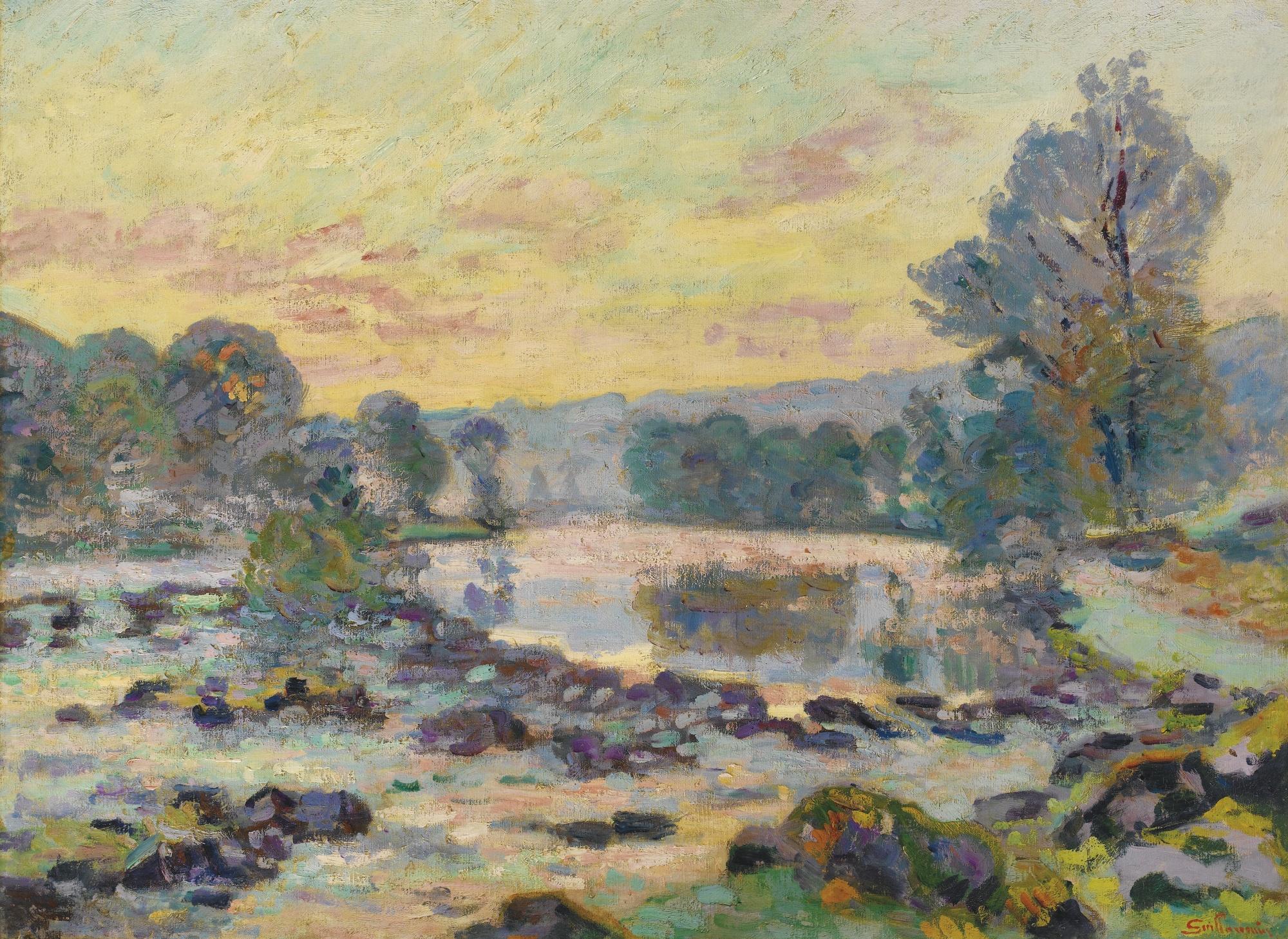 Jean-Baptiste Armand Guillaumin-Le Barrage De Genetin, Crozant-1907