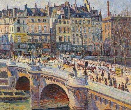 Maximilien Luce-Paris, Le Pont-Neuf Et Le Quai Conti (Jour)-1896