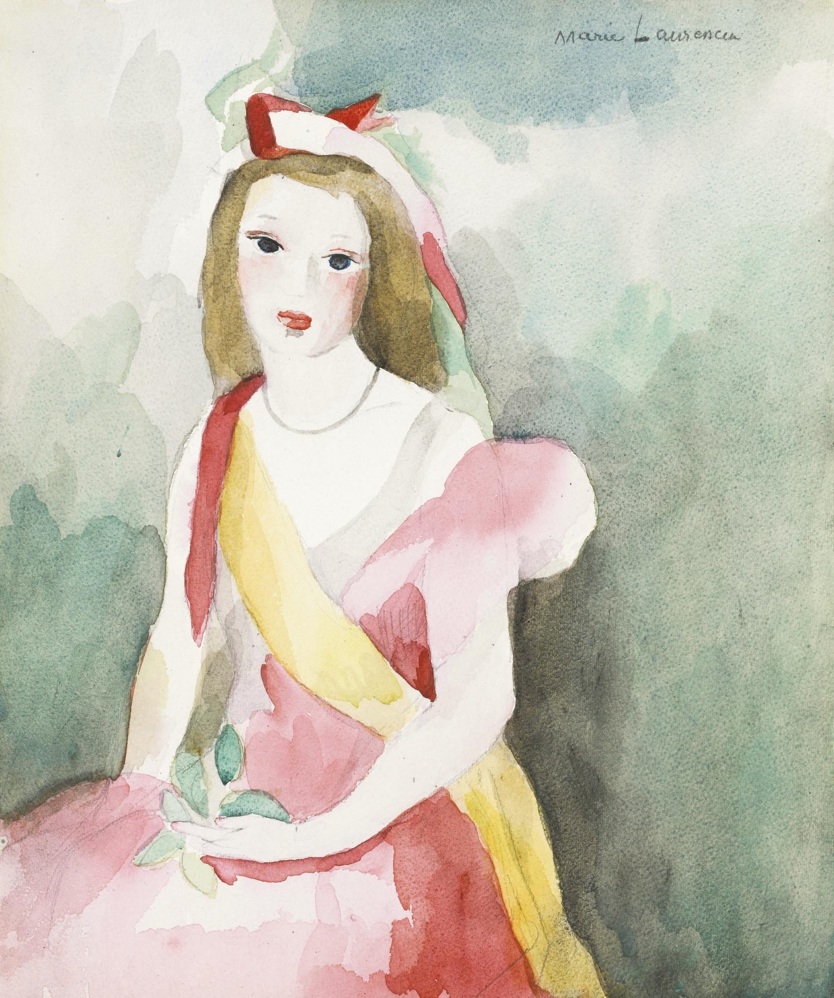 Marie Laurencin-Jeune Fille Assise-