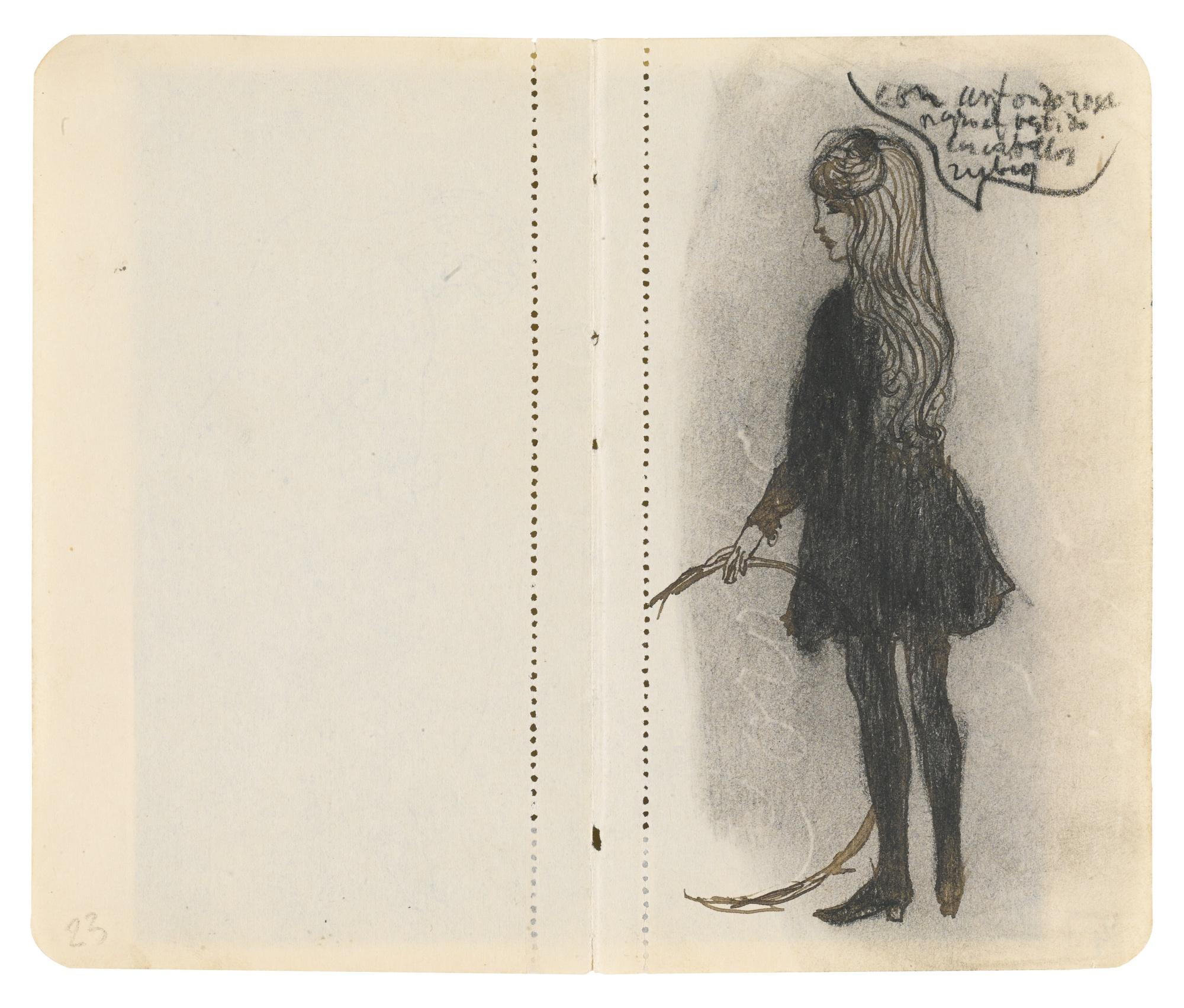Pablo Picasso-Fille Avec Cerceau-Recto Nu Assis -Verso-1905
