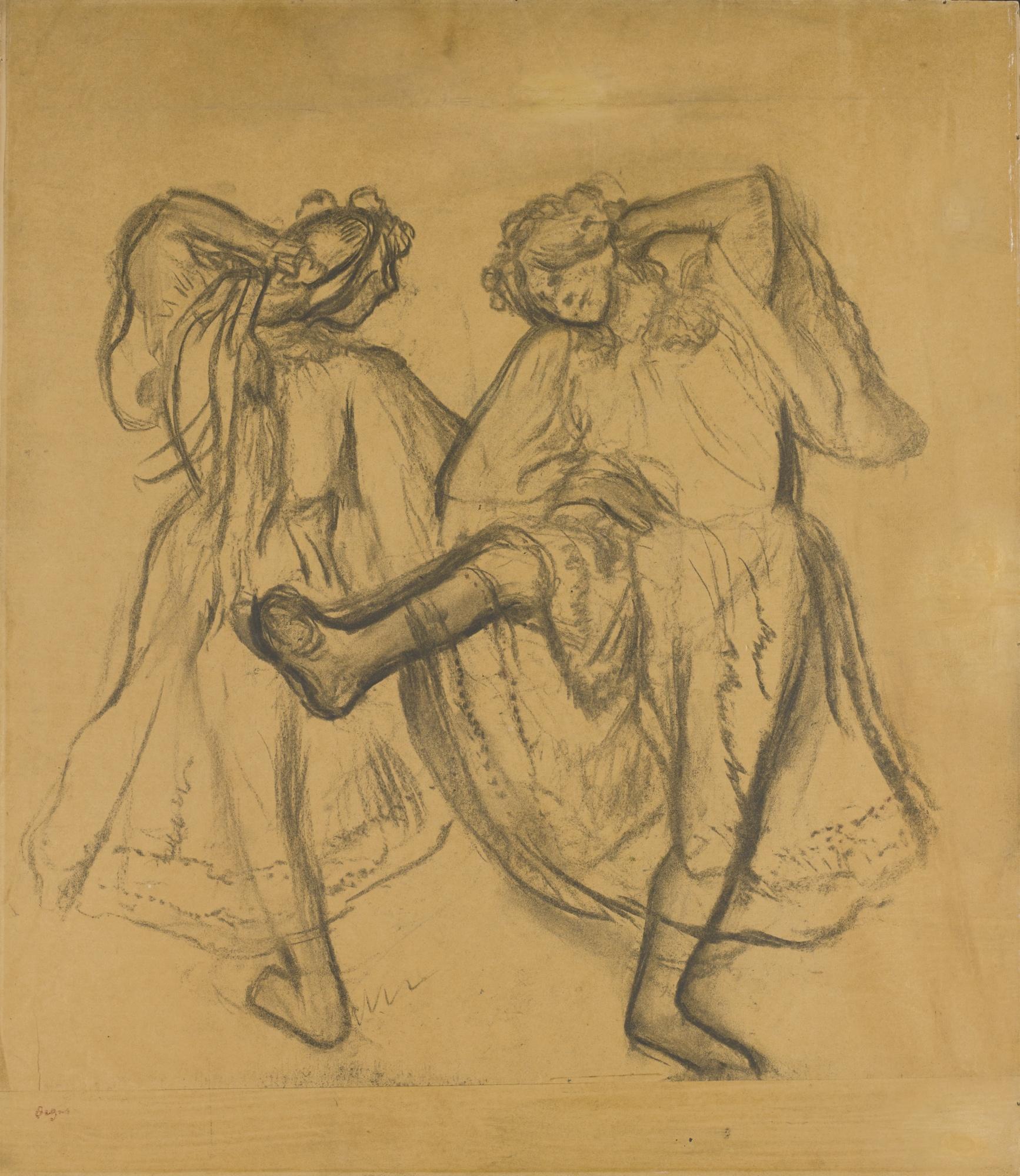 Edgar Degas-Ballet Russe-1895