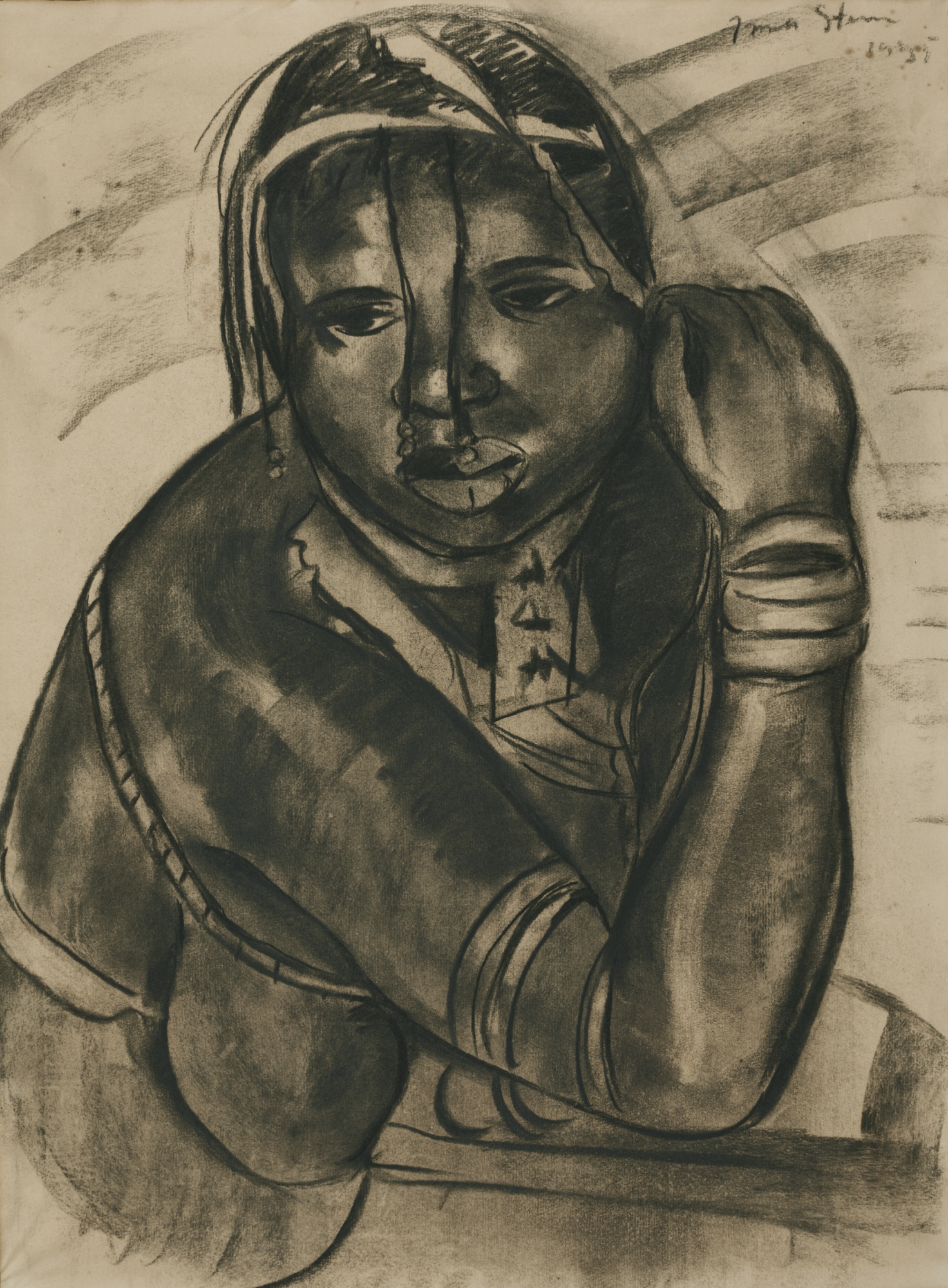 Irma Stern-Portrait Of A Young Xhosa Woman-1935