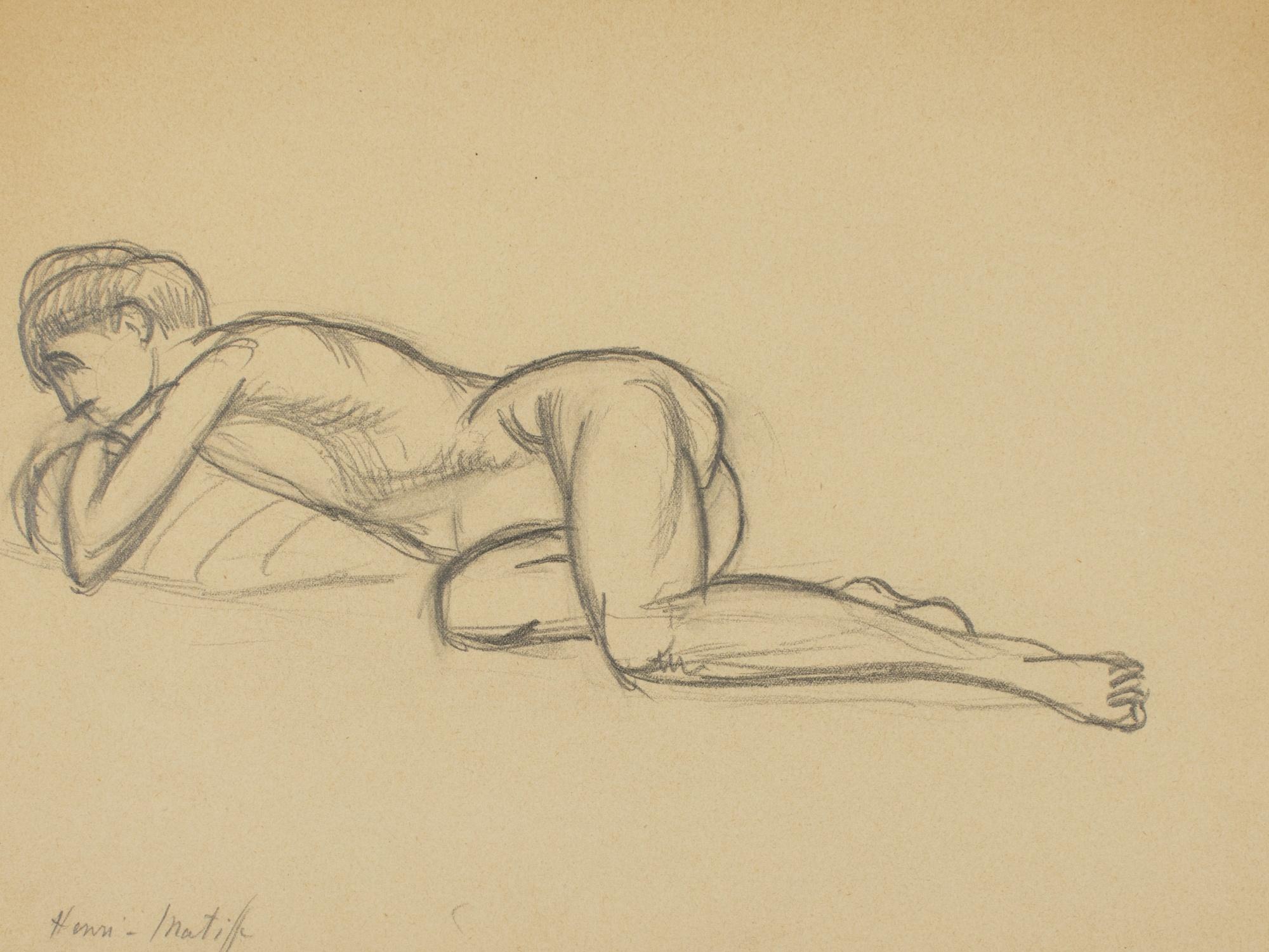 Henri Matisse-Nu Allonge (Reclining Figure)-1903