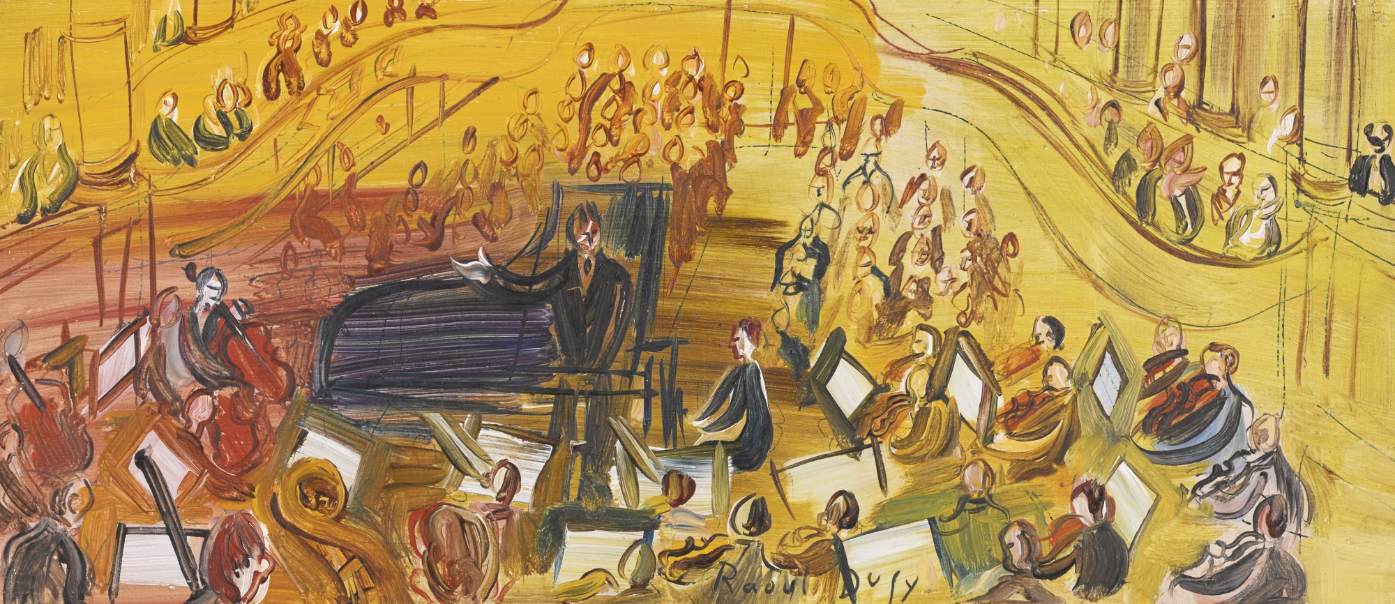 Raoul Dufy-Orchestre Jaune-1942