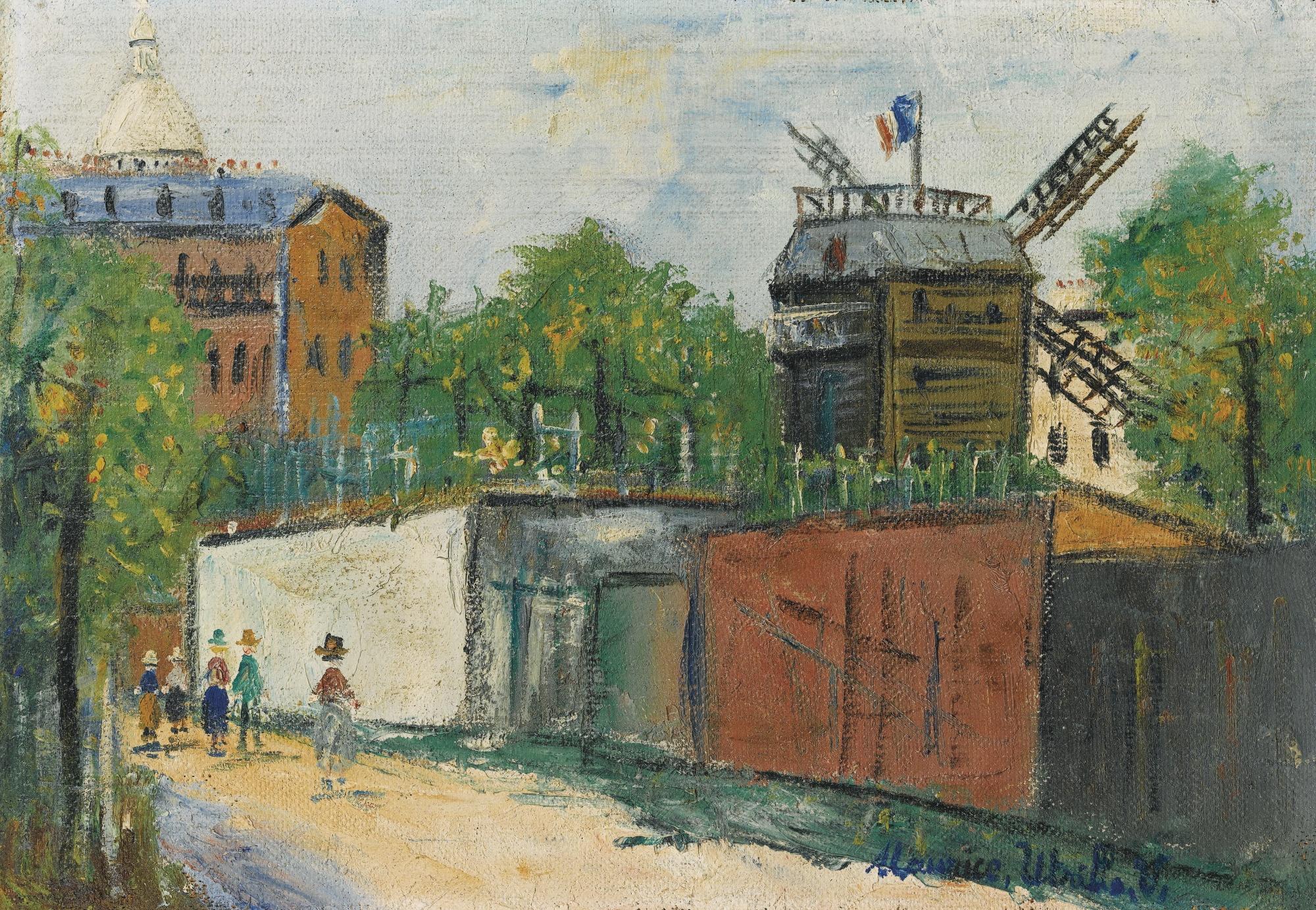 Maurice Utrillo-Moulin De La Galette, Montmartre-1944