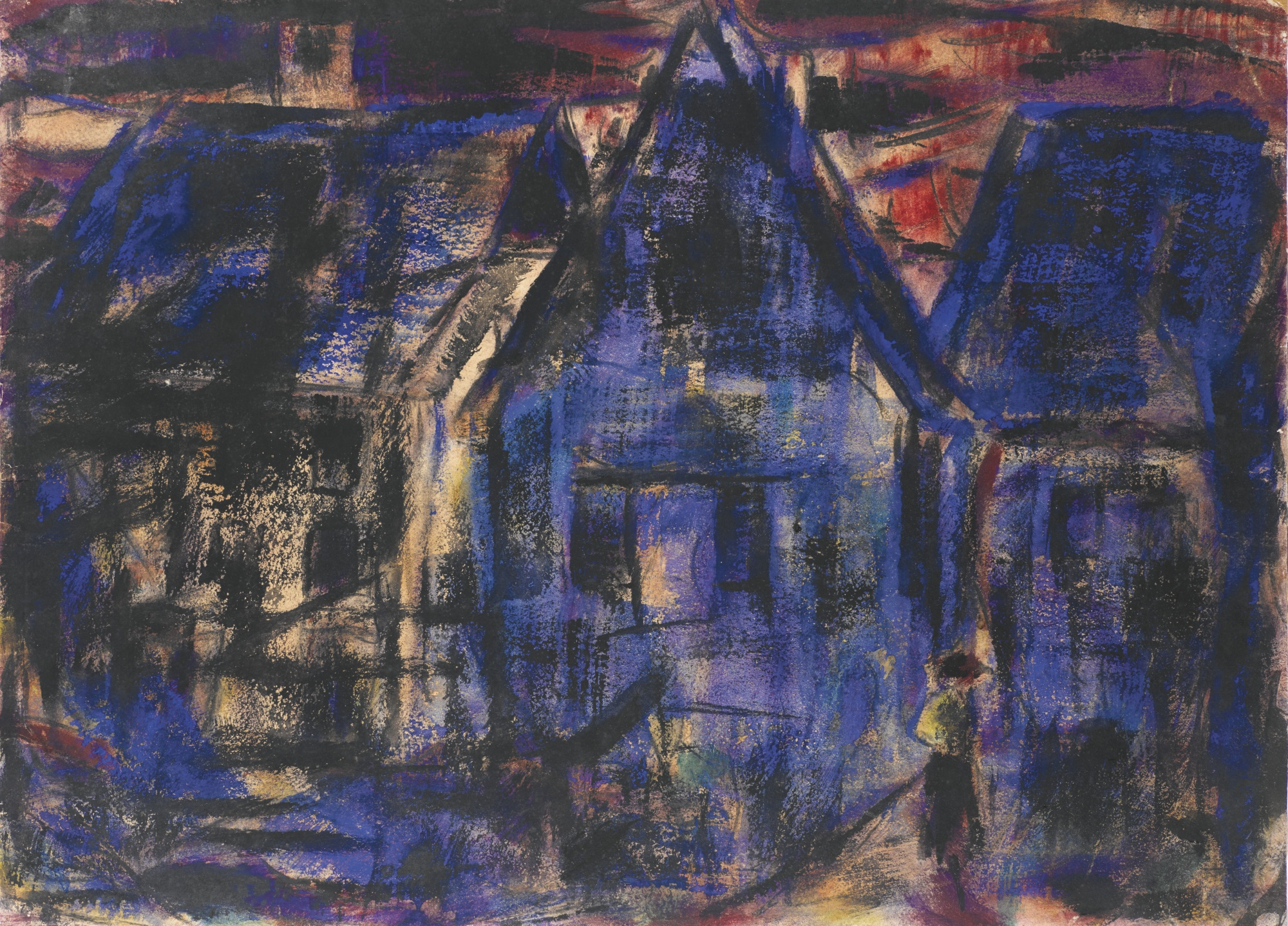 Christian Rohlfs-Soester Hauser (Houses In Soest)-1920