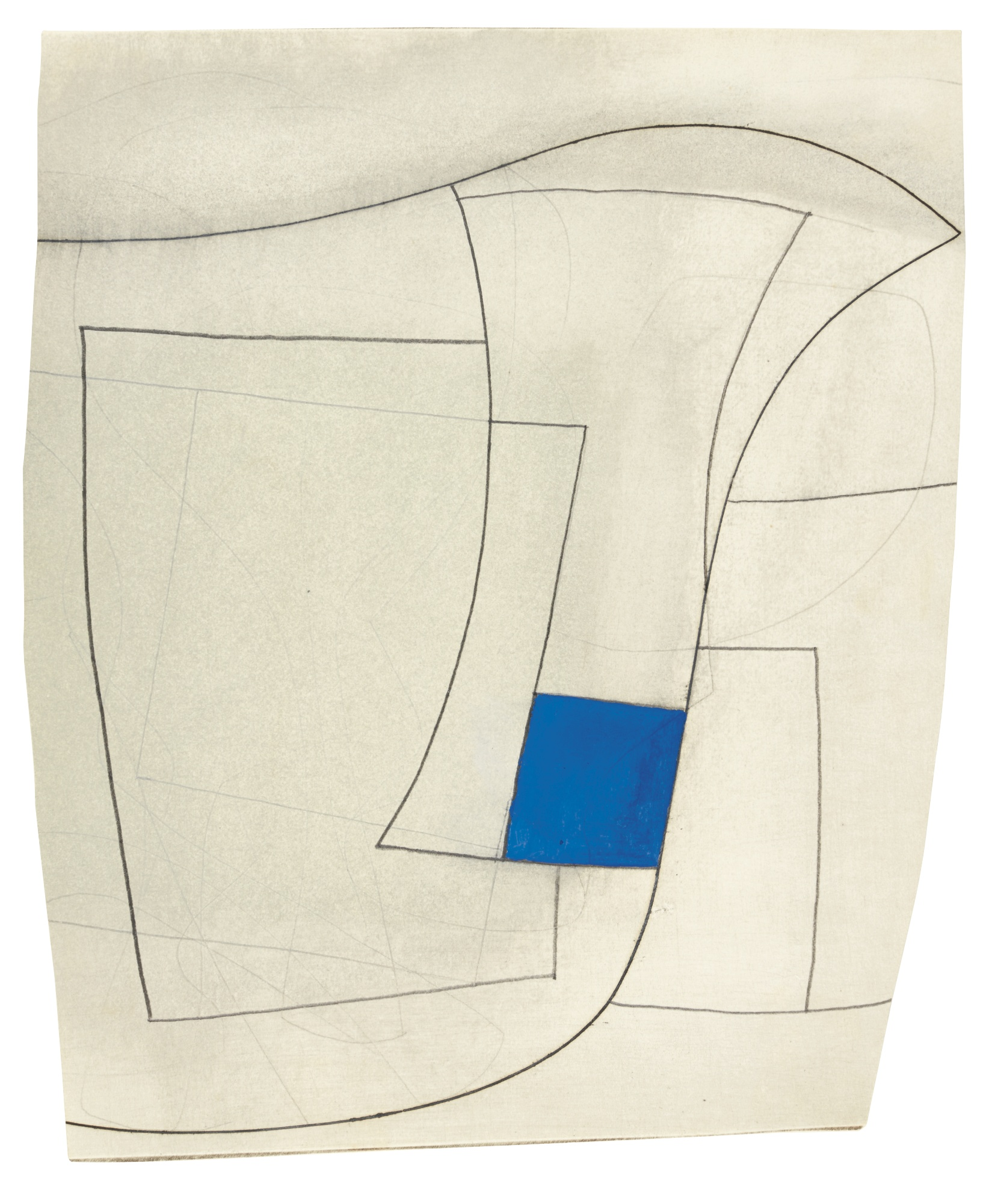 Ben Nicholson-Linear With Blue-1969