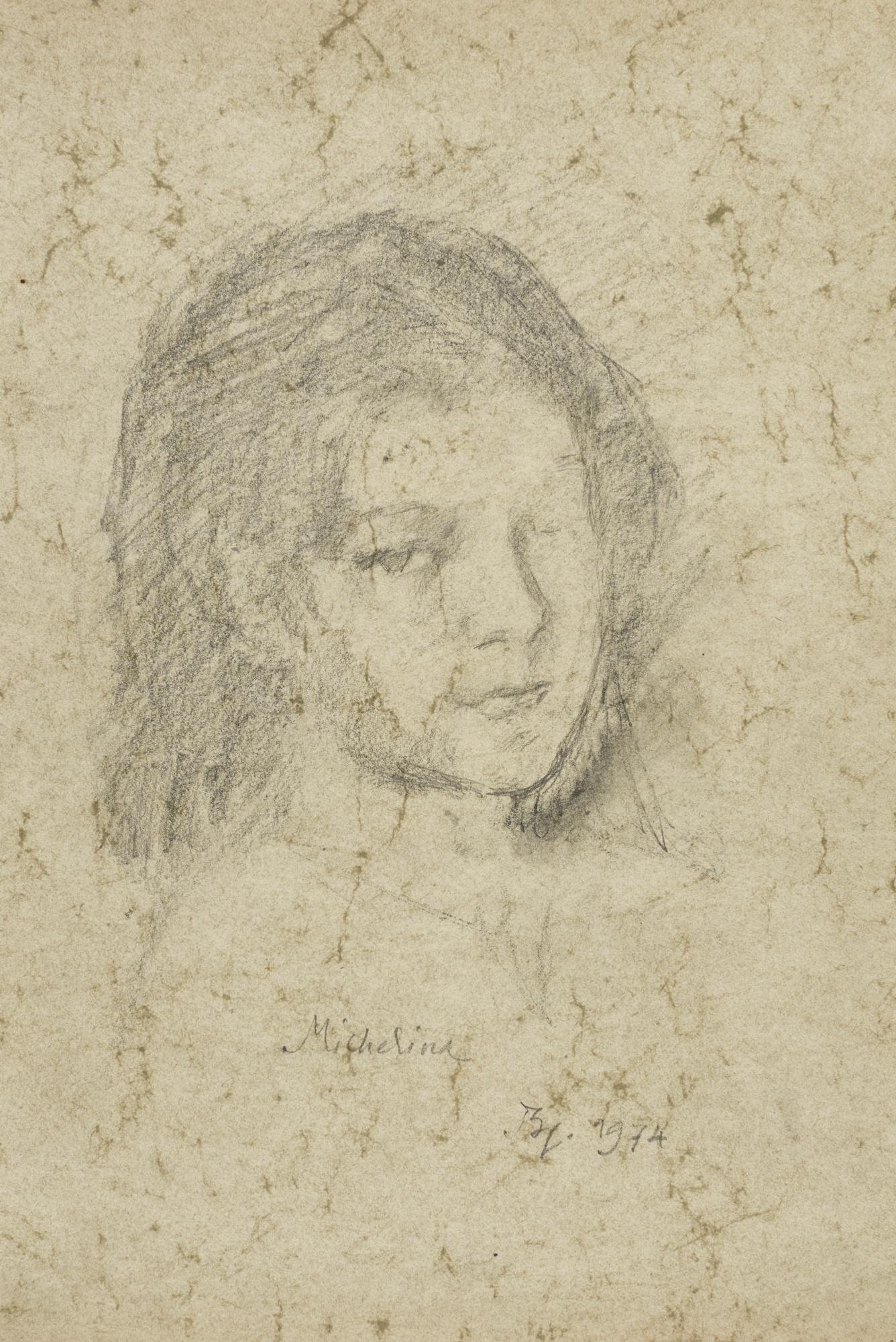 Balthus-Portrait De Michelina-1974