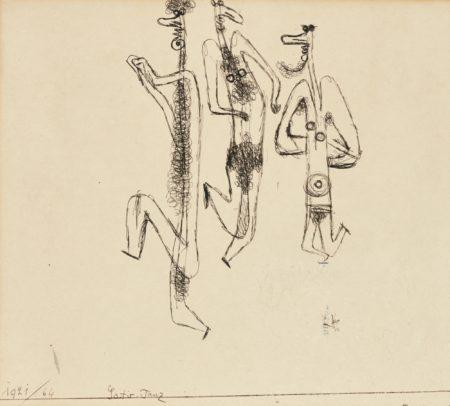 Paul Klee-Satir-Tanz (Dance Of The Satyrs)-1921