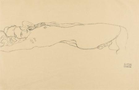 Gustav Klimt-Liegender Akt (Reclining Nude)-1915