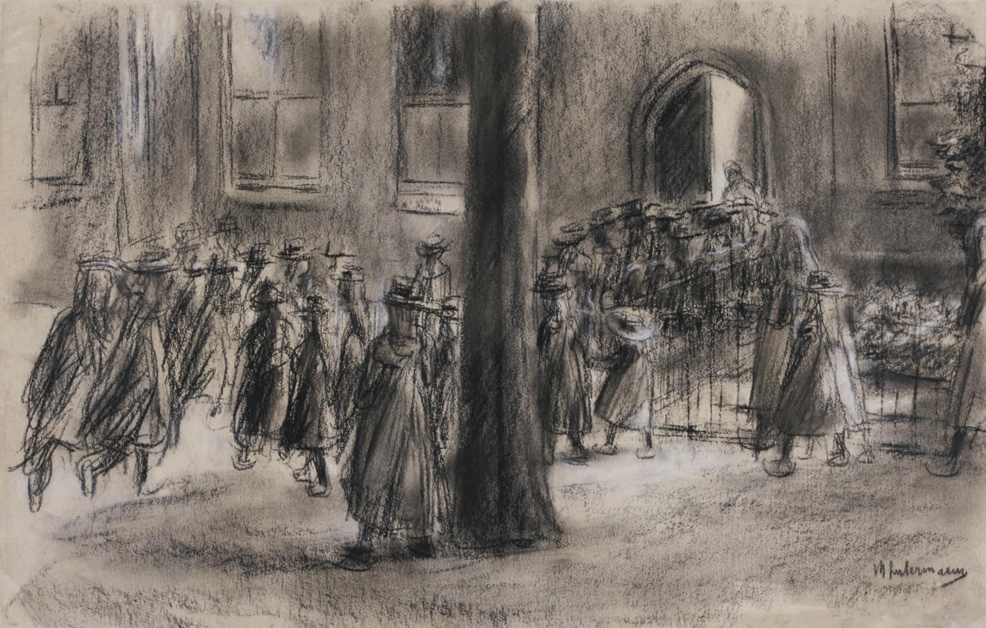 Max Liebermann-Schulgang In Laren (School Run In Laren)-1898