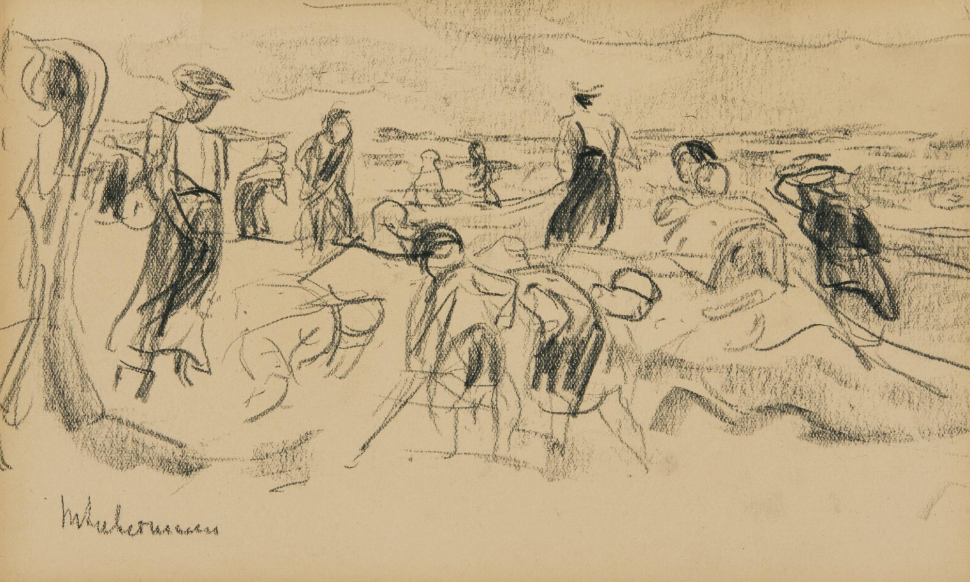 Max Liebermann-Strandszene (Beach Scene)-