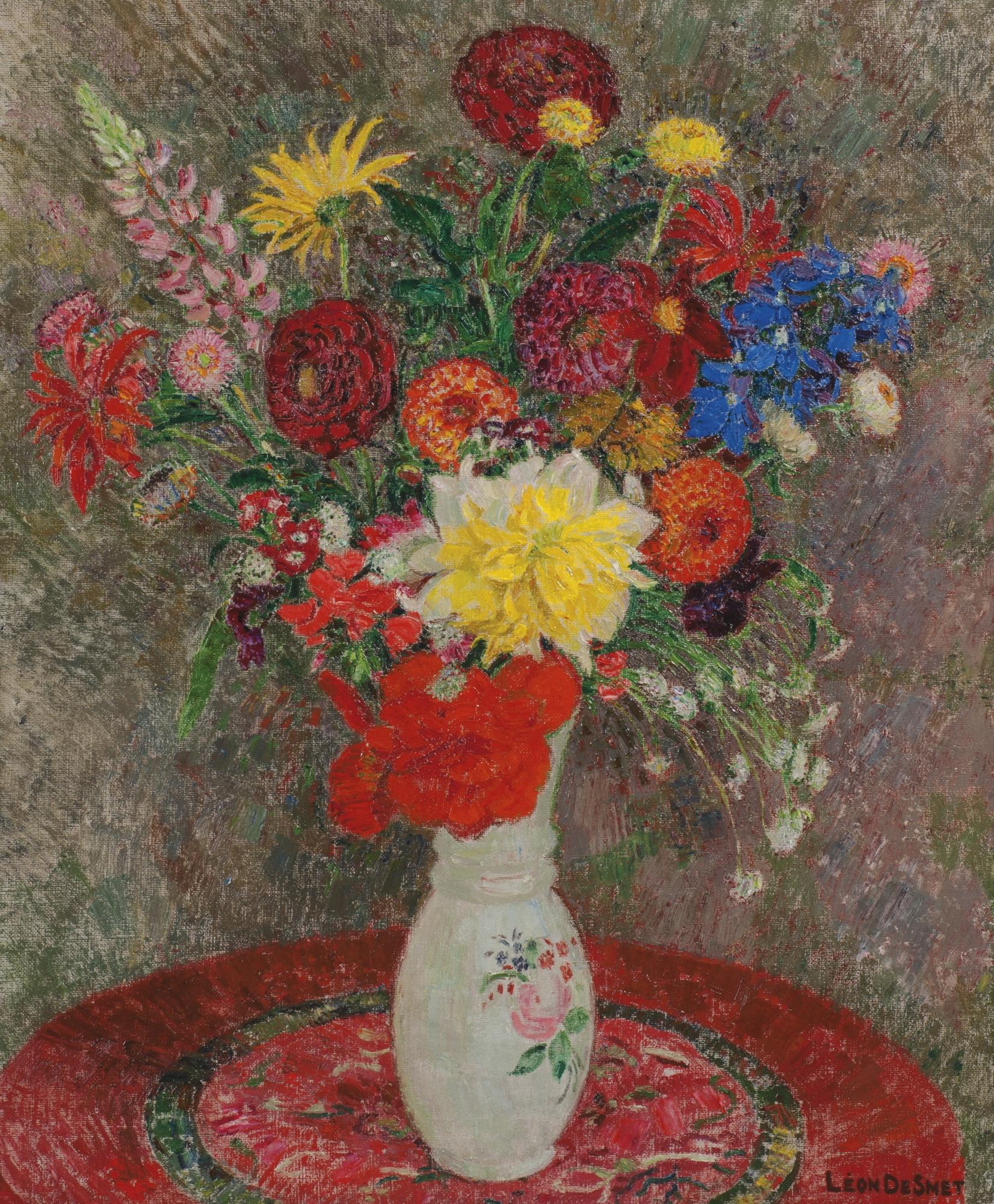 Leon De Smet-Vase De Fleurs-1940