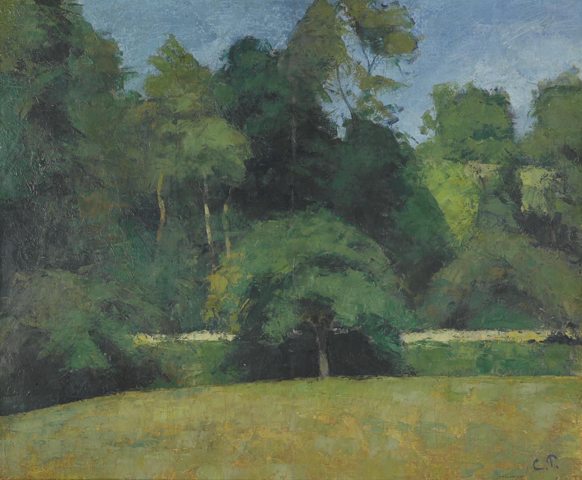 Camille Pissarro-Le Fond De Saint-Antoine A Pontoise-1873