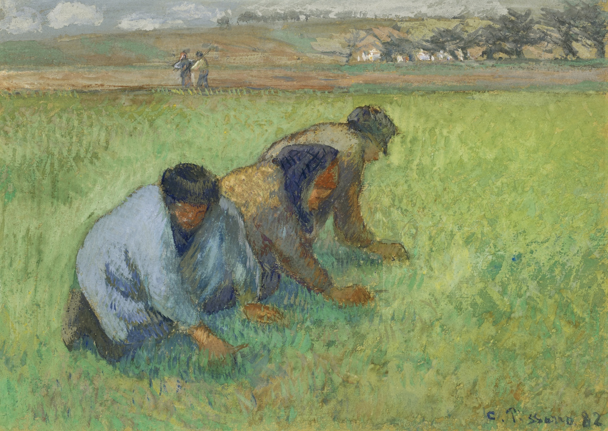 Camille Pissarro-Les Sarcleurs-1882