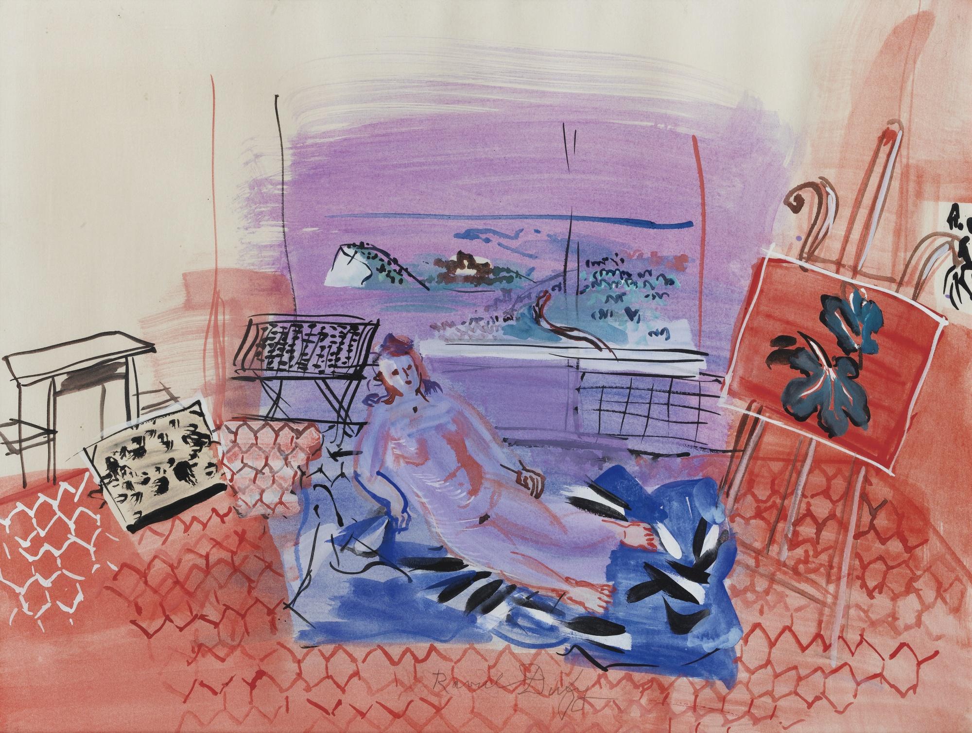 Raoul Dufy-L'Atelier A Vence-1945