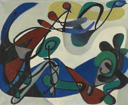 Georg Meistermann-Ohne Titel (Handdruck) (Untitled(Handshake))-1952