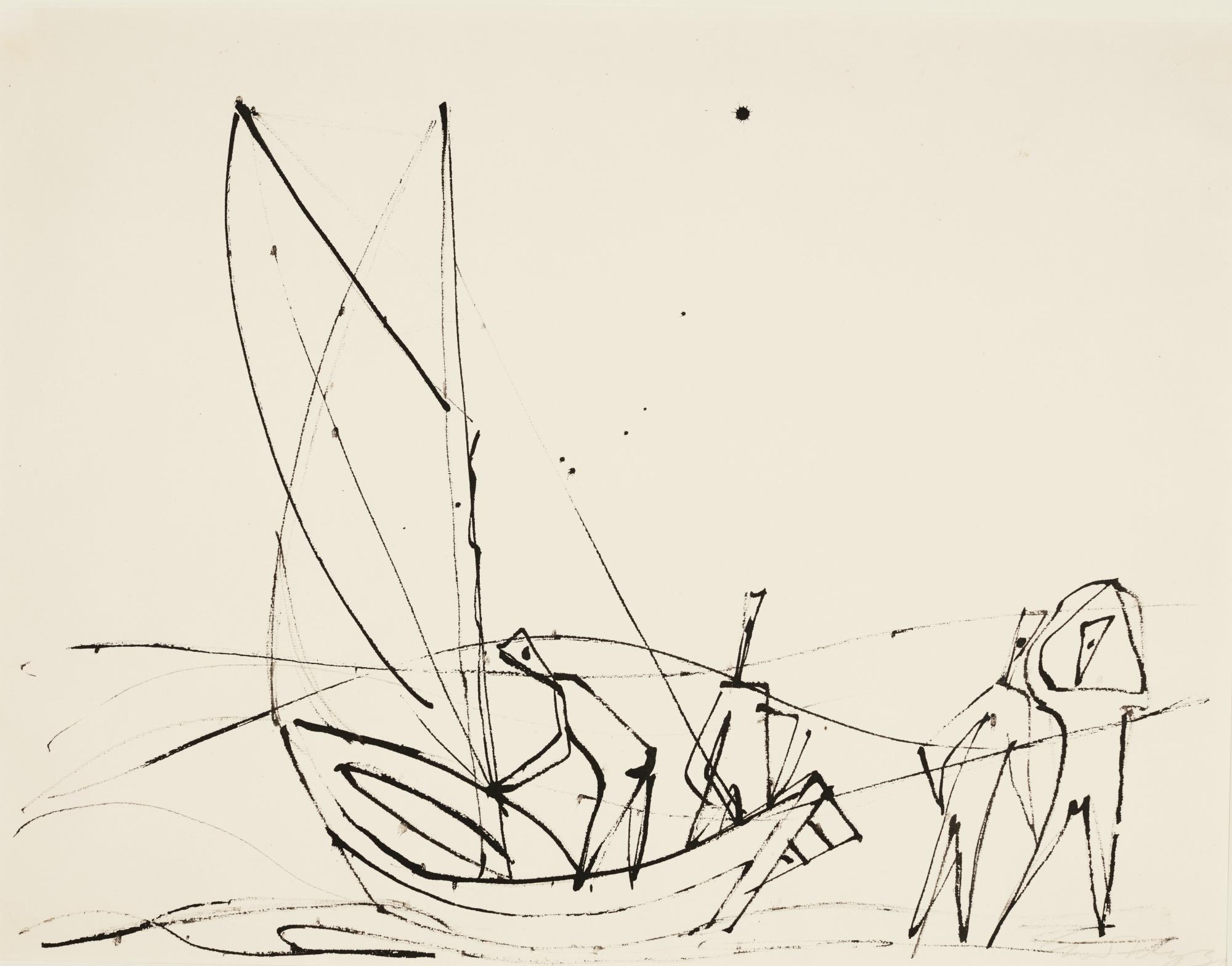 Ernst Wilhelm Nay-Fischer (Fishermen)-1936