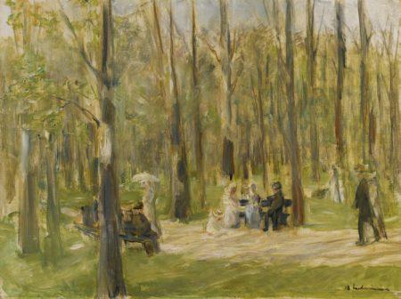 Max Liebermann-Spazierganger Im Tiergarten (Strollers In The Tiergarten)-1922