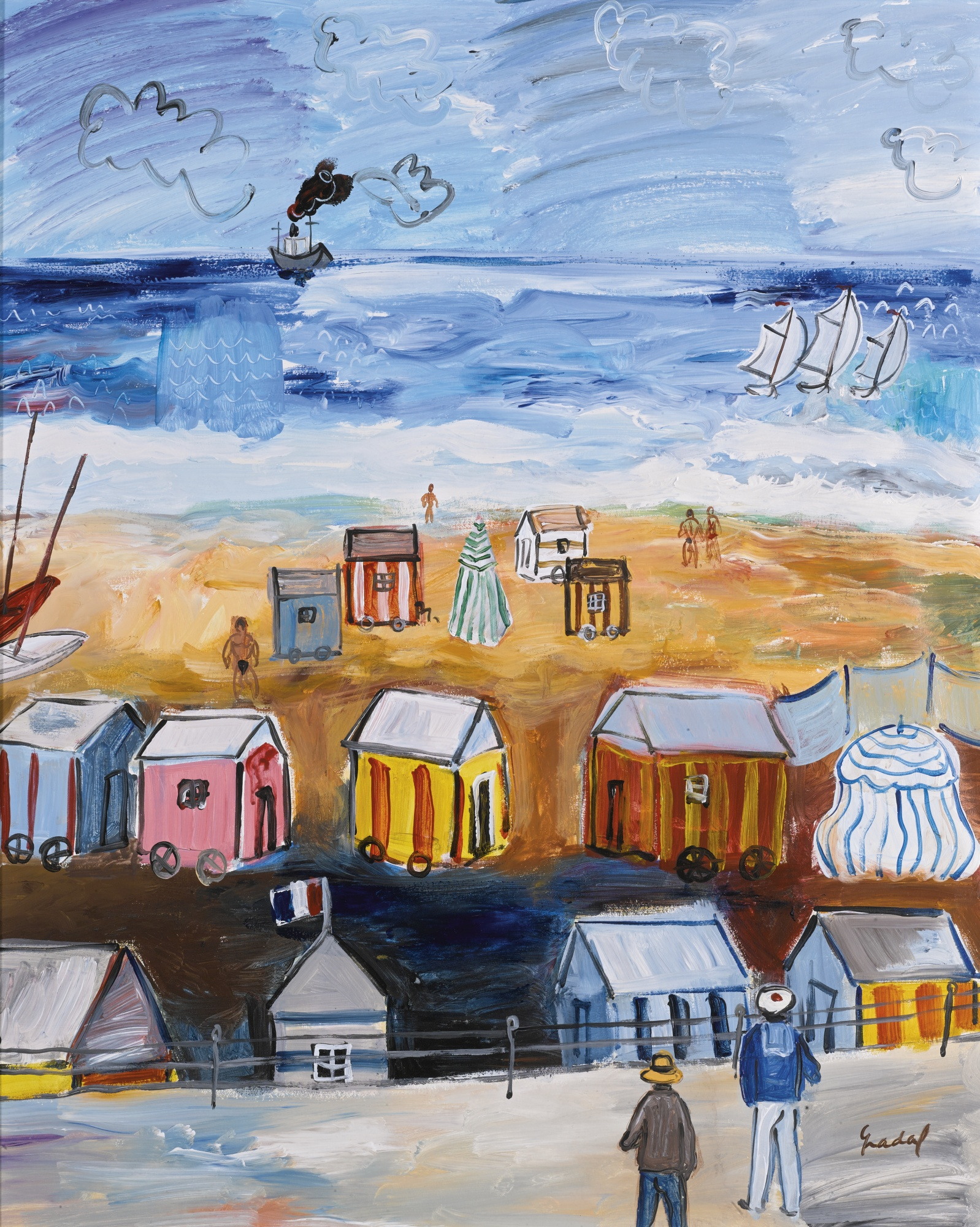 Carlos Nadal-La Plage A Saint Malo-