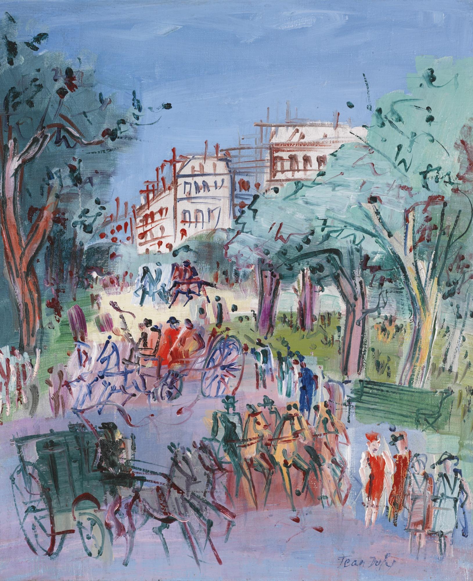 Jean Dufy-Promenade Au Bois De Boulogne-1948