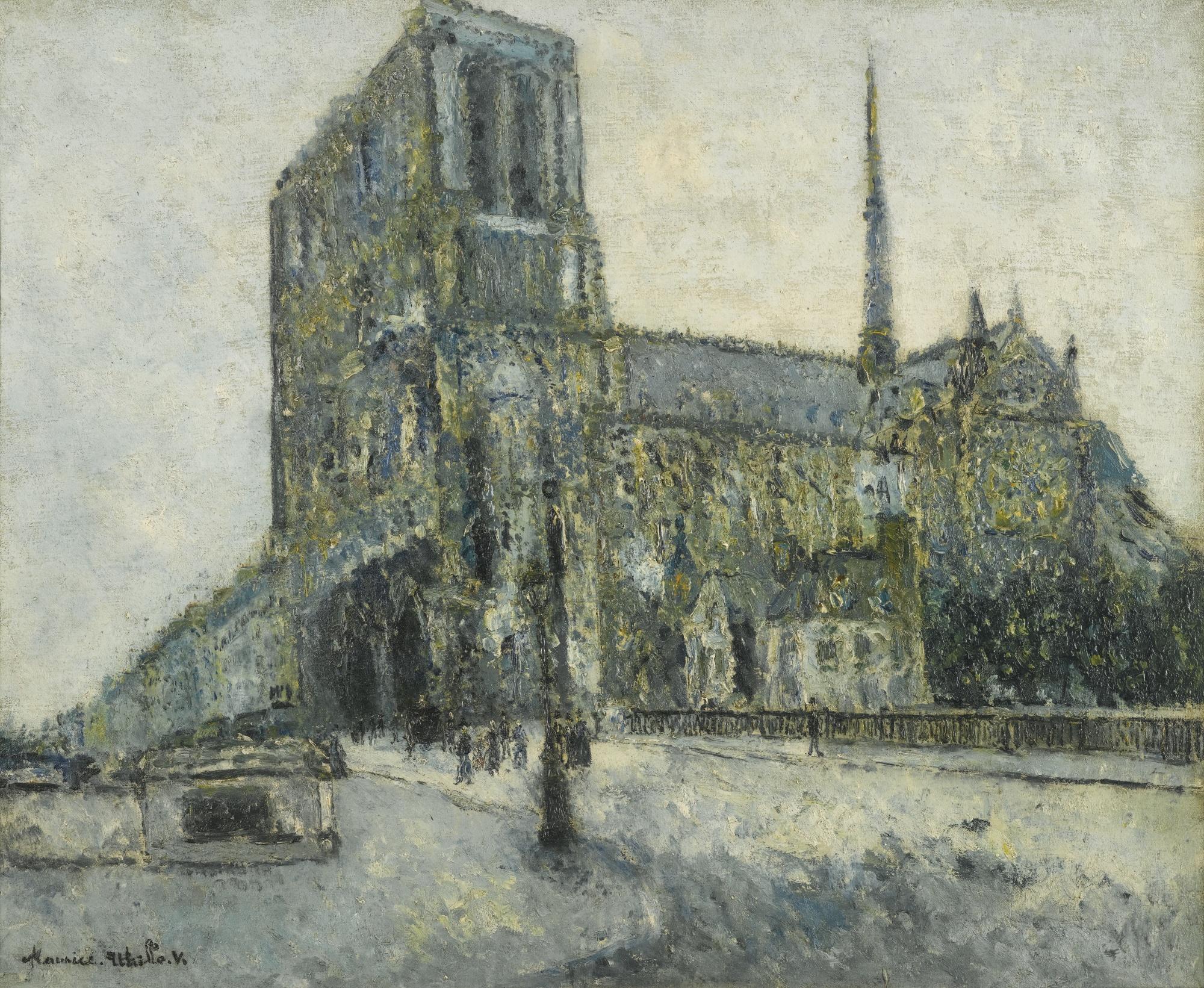 Maurice Utrillo-Notre-Dame De Paris-1908
