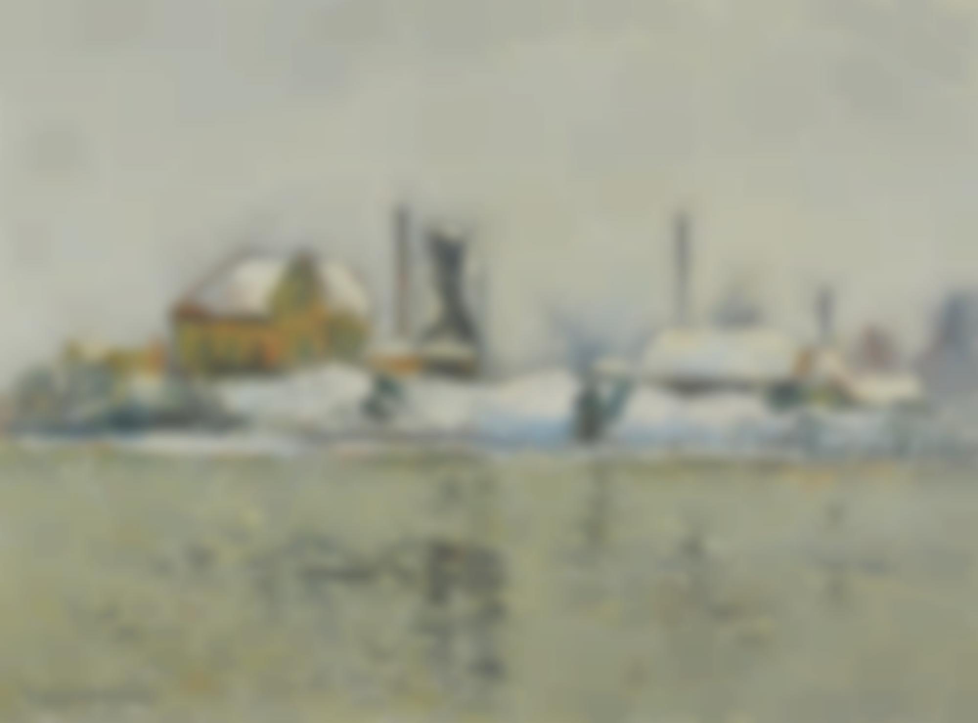 Gustave Loiseau-Usine Au Bord De L'Oise, Effet De Neige-1905