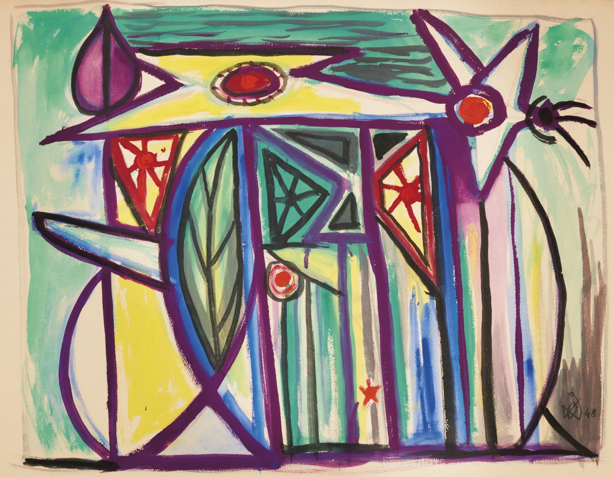 Oscar Dominguez-Sin Titulo (Untitled)-1948