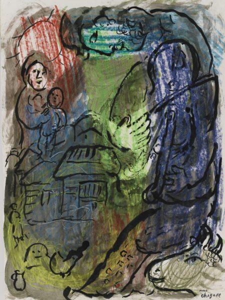 Marc Chagall-Le Violoniste Au Village-
