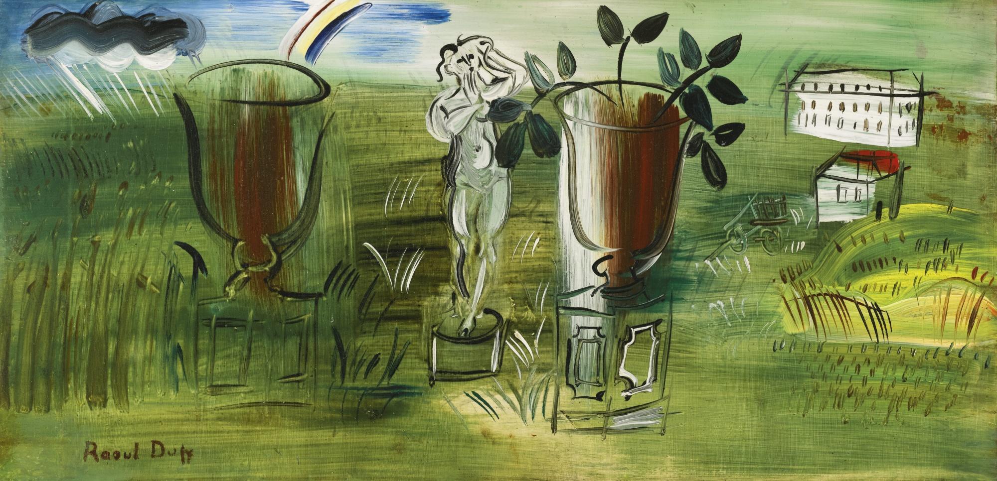 Raoul Dufy-La Statue Et Les Deux Vasques-1942
