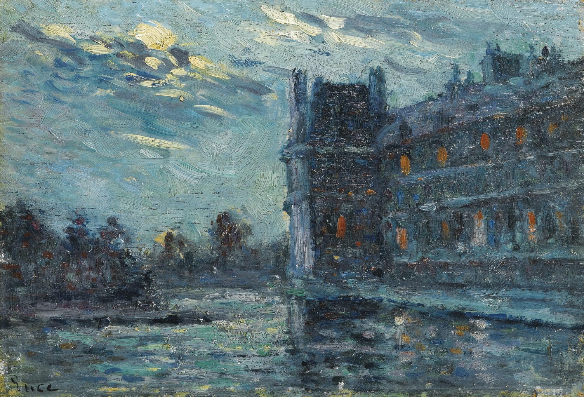 Maximilien Luce-Les Inondations De 1910, Le Pavillon De Flore-1910