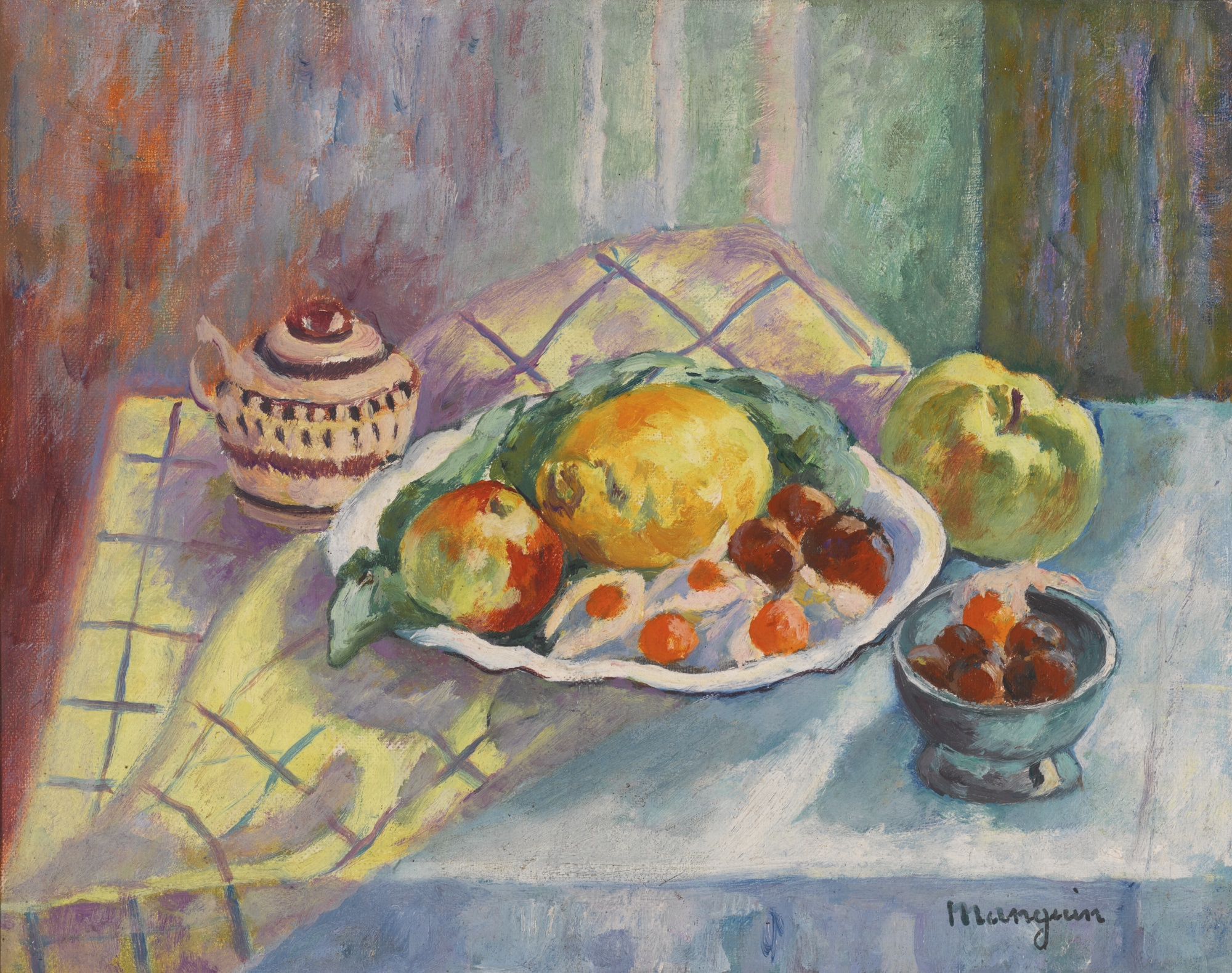 Henri Charles Manguin-Pommes, Citrons Et Physalis-1942