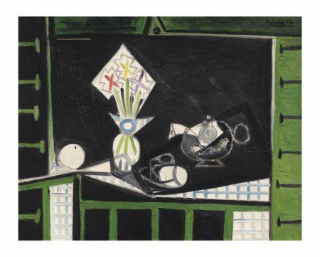 Pablo Picasso-Nature morte aux volets verts-1946