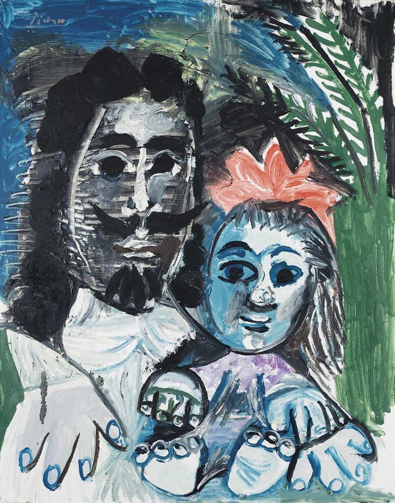 Pablo Picasso-Mousquetaire et fillette-1967