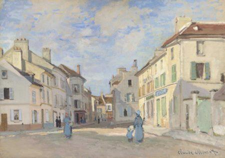 Claude Monet-L'Ancienne rue de la Chaussee, Argenteuil-1872