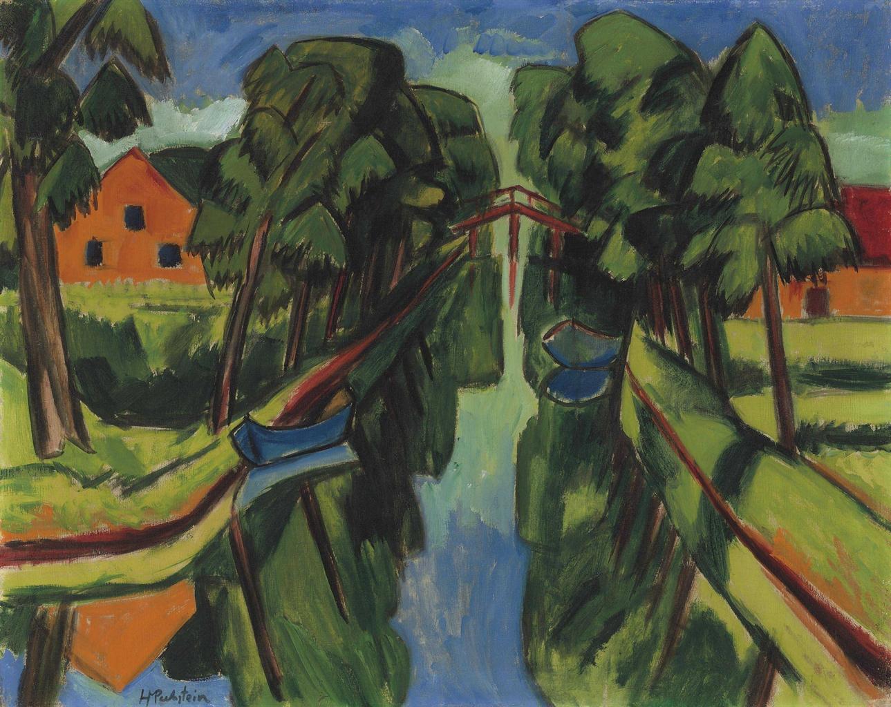 Max Pechstein-Der Muhlengraben-1921