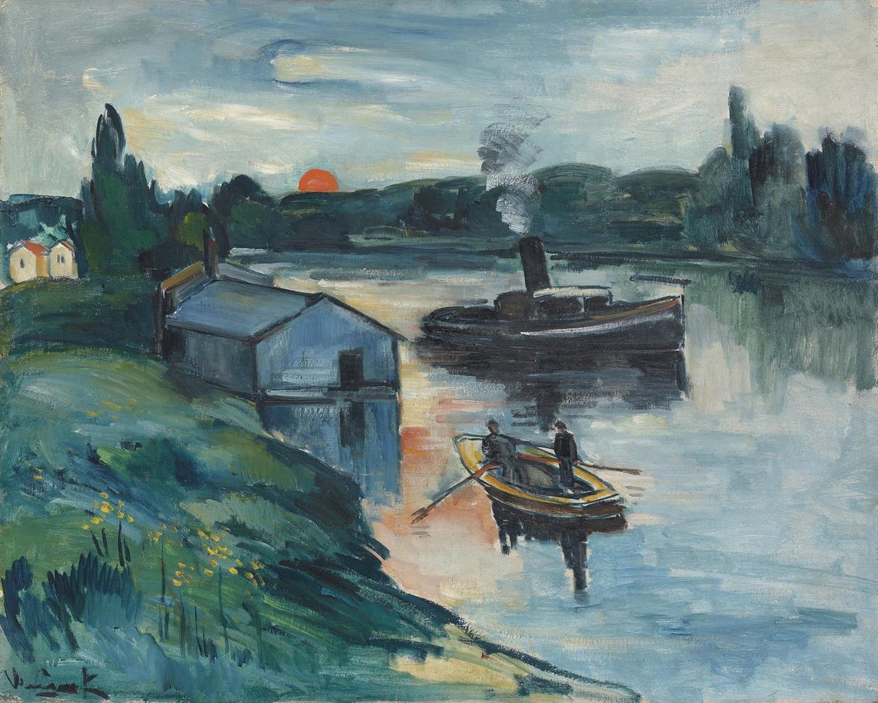 Maurice de Vlaminck-Bateau-lavoir a Chatou-1908
