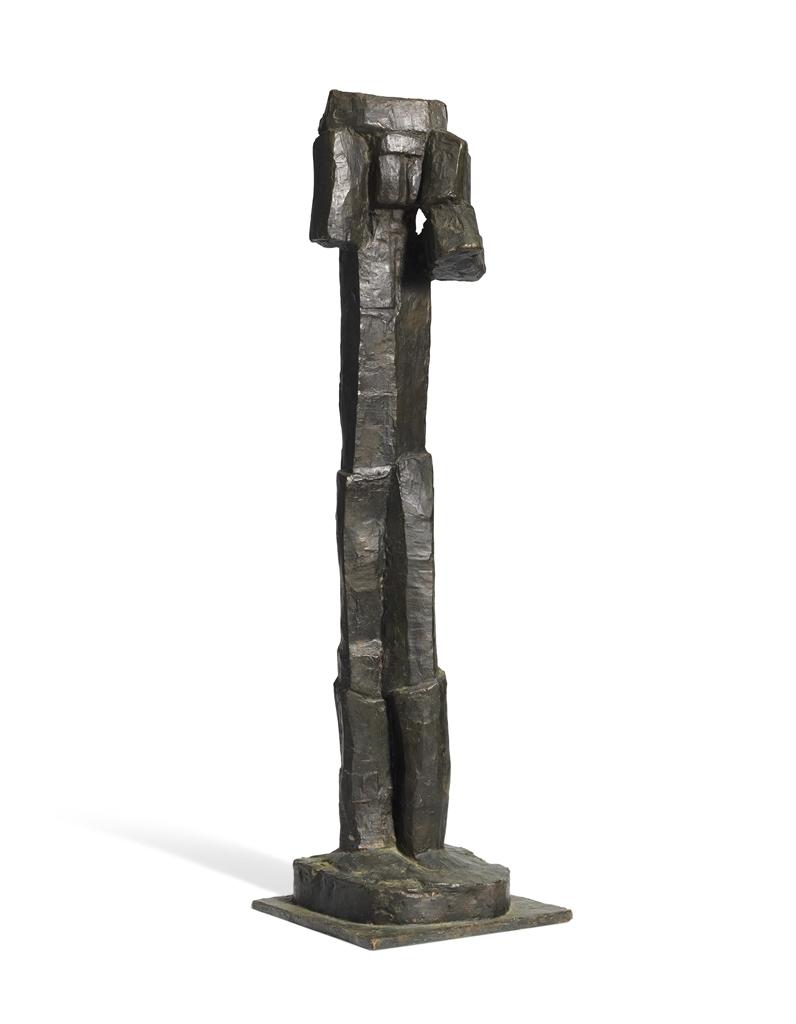 Fritz Wotruba-Stehende Figur (mit erhobenen Armen)-1958